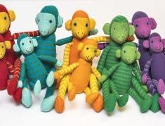 Färgglada apor