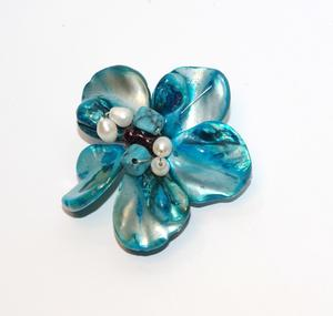Blombrosch, blå