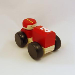 REA! Racerbil i trä, röd
