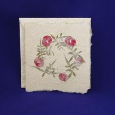 Kvadratiskt blomkort